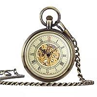 UNIQUEBELLA Pocket watch-Mechanical-Automatic-Unisex-Vintage-Alloy Chain-C4 F230-Bronze
