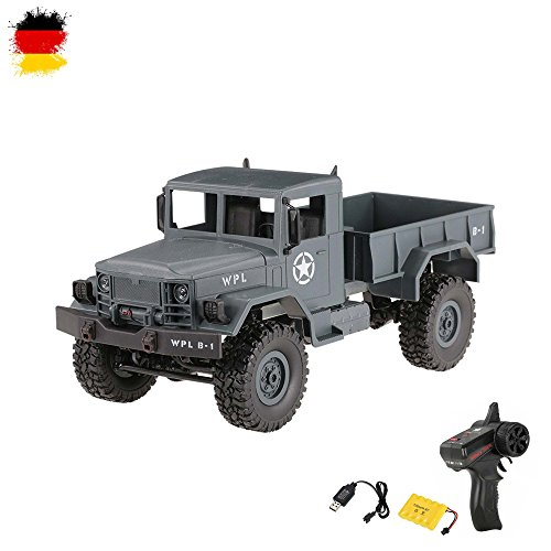 HSP Himoto 1/16 Maßstab RC ferngesteuerter Off-Road Militärtruck Army Fahrzeug Transporter Crawler, 2,4GHz,4WD Antrieb, Komplett-Set RTF