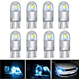 AREOUT 8 Pack T10 LED coche luz bombillas W5 W 3030 2SMD 168 194 Auto Lámparas luces de interior (blanco