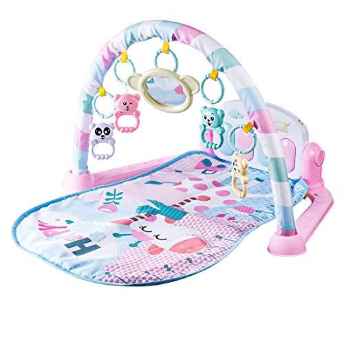 Giplar Multifuncional Juguete,Gimnasio Piano Pataditas,manta de juego para 0-36 Meses Bebé