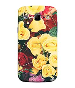 PrintVisa Designer Back Case Cover for Samsung Galaxy Core i8262 (natural flowers lovely rosses multicolor)