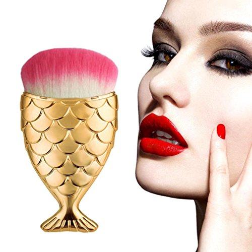 Preisvergleich Produktbild WINWINTOM Fisch Skala Make up Pinsel Fischschwanz Boden Pinsel Pulver Kosmetik Pinsel Werkzeug (Gold A)