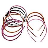 Bandas de plástico para el cabello 3 x 5 mm Accesorios Attic para niñas, de colores elegidos al azar