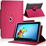 """Seluxion - Housse Etui Universel L couleur Rose pour Tablette Storex eZee'Tab10Q12-S 10"""""""