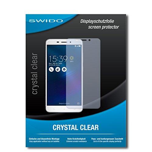 SWIDO Schutzfolie für Asus Zenfone 3 Laser [2 Stück] Kristall-Klar, Hoher Härtegrad, Schutz vor Öl, Staub & Kratzer/Glasfolie, Bildschirmschutz, Bildschirmschutzfolie, Panzerglas-Folie