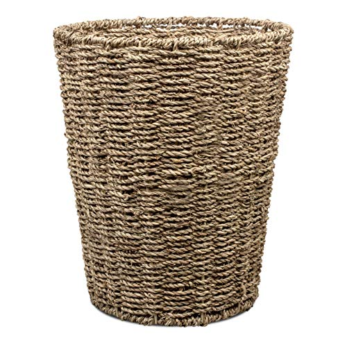 woodluv Runder Papierkorb aus Seegras -