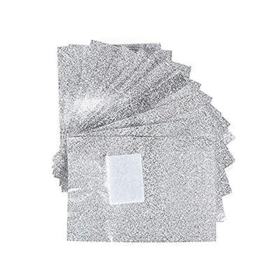 BOMIEN 100 Pcs Aluminium Foil Nail Wraps Acrylic Gel Polish Remover
