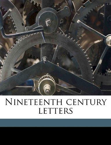 Nineteenth century letters