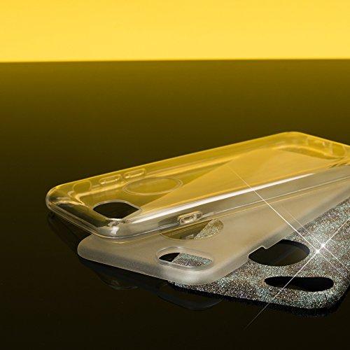 iPhone 8 / 7 Custodia in Silicone di NICA, Glitter Leopardo Copertura Protezione Sottile per Cellulare, Slim Gel Cover Case Protettiva Scintillio Bumper per Telefono Apple iPhone 7 /8 - Argento Grigio Argento Grigio