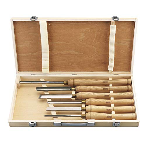 Draper 58697 Outils de tournage sur bois 6 pièces (Import Grande Bretagne)