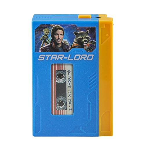 ekids GG de 120 Marvel Guardians of The Galaxy Retro Walkman con Auriculares Azul/Amarillo