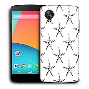 Snoogg Thin Starfish Printed Protective Phone Back Case Cover For LG Google Nexus 5