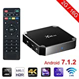 sawpy x96 Mini Android TV Box Android 7.1 2 GB + 16 Go 4 K Smart TV Box 64bit Quad Core CPU with WiFi