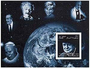 Timbres Winston Churchill pour les collectionneurs - la princesse Diana, Winston Churchill et Einstein - 1 superbe timbre - Idéal pour la philatélie - Timbres neufs sans