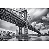 GREAT ART XXL Poster Manhattan Bridge New York USA -