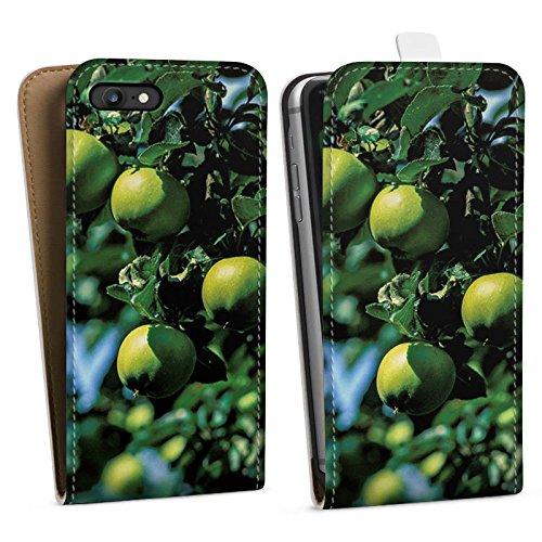 Apple iPhone X Silikon Hülle Case Schutzhülle Äpfel Baum Früchte Downflip Tasche weiß