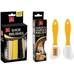 Shop of Accessories - Juego de cepillo para nubuck y ante, 2 cepillos para zapatos y paño