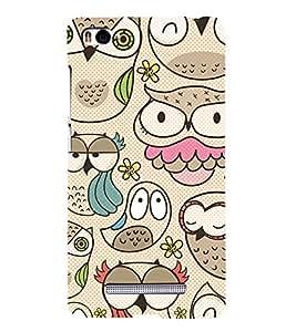 Owls Wallpaper 3D Hard Polycarbonate Designer Back Case Cover for Xiaomi Mi 4i :: Xiaomi Redmi Mi 4i