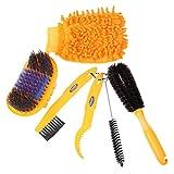 Broadroot spazzole per pulizia Tool set con gomme bicicletta guanti pulitore per bici