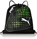 PUMA EvoPower Gym Sack Turnbeutel, Black-Green Gecko, 51 x 42 x 1 cm