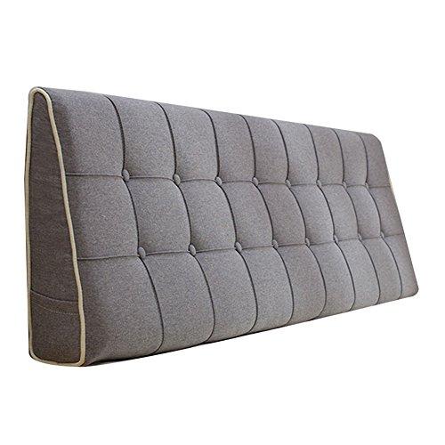 Kopfteil Bett Kissen Kissenbezug Bed Wedge Rückenlehne Taille Pad Leinen Abnehmbare Stoff Kissen Home Schlafzimmer Einzel/Doppel, 7 Farben, mehrere Größen (Color : 7#, Size : 180X50CM) -