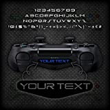 2x Playstation PS4 Controller Light Bar Personalised Custom Vinyl Decal Sticker Multiple Fonts - EPIC MODZ