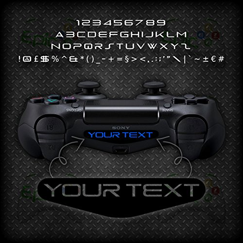 2x Playstation PS4 Controller Light Bar Personalised Custom Vinyl Decal Sticker – EPIC MODZ