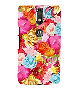 PINK FLORAL PATTERN 3D Hard Polycarbonate Designer Back Case Cover for Motorola Moto G4 Play