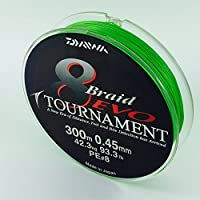 Daiwa Tournament 8 Braid EVO 300m chartreuse - geflochtene Angelschnur