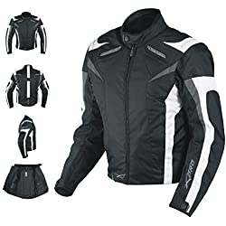 A-pro Veste de moto sport avec protections homologuées CE, gilet thermique, taille M