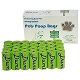 Dumi Hundekotbeutel, umweltfreundlich und biologisch abbaubar, auslaufsicher, extra groß, dick und stark, 420 Stück … (Grün)