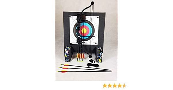 20Lbs Youth Black Compound Archery Starter Package With Foam Boss /& Base Feet