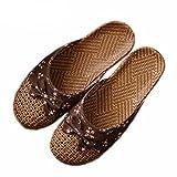XHCHE Frauen Flache Pantoffeln Weibliche Badezimmer Pantoffeln Indoor Schuhe Sommer Hanf Beach Flip-Flop