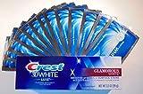 Bright White Teeth WHITENING Strips + Crest 3D WHITENING Toothpaste
