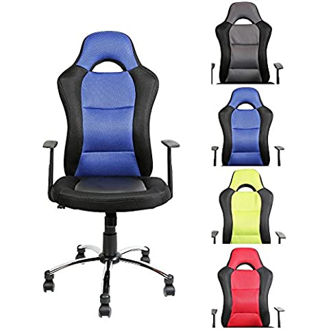 CLP Silla de oficina con el asiento deportivo JERRY, muy cómodo con ruedas ligeras, altura del asiento 39 - 51 cm, diversos colores