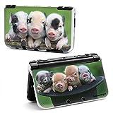 Supremery New Nintendo 3DS XL Case Hülle Kunststoff-Shell Hard Cover - Schweinchen