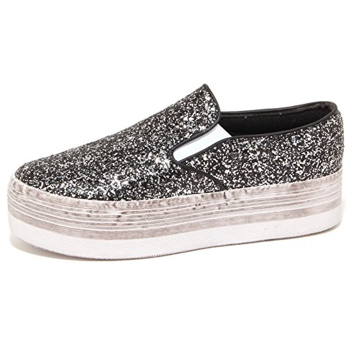 6865P sneaker zeppa JEFFREY CAMPBELL JC SLIP ON nero scarpa donna shoe woman [41]
