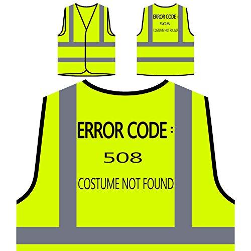 Nicht Gefunden Kostüm - Fehlercode 508 Kostüm Nicht gefunden Personalisierte High Visibility Gelbe Sicherheitsjacke Weste u227v