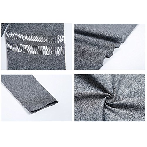 Pantalons de gymnastique féminine Combinaison - Exercice de yoga Sport Leggings de sport Vêtements d'athlétisme hibote Gris (sans soutien-gorge)