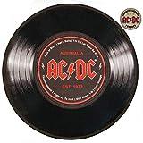 AC/DC Teppich rund Schallplatte mit Noppenrückseite, 50 cm Durchmesser