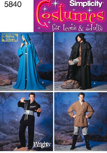 Simplicity Schnittmuster 5840A Damen Herren und Teenager Kostüme (Hobbit Kostüm Muster)
