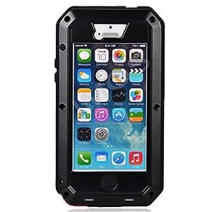 Imos Coque de protection antichoc/anti-poussière ultra-résistante en aluminium pour iPhone 5/5S Noir