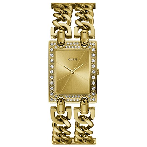 Guess Womens Mod Heavy Metal Gold PVD Plated Bracelet W1121L2