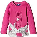 TOM TAILOR Kids Mädchen Sweatshirt Lovely 509, Gr. 104 (Herstellergröße: 104/110), Rot (Cactus Flower Pink 5421)