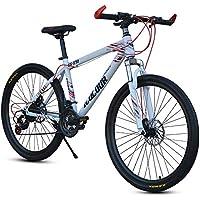 Huoduoduo Bicicleta, Bicicleta De Montaña, 24 Pulgadas De 30 Speed Doble Freno DeAcero Alto