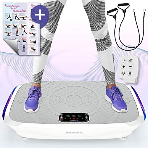 Kinetic Sports 3D Vibrationsplatte VPX800 VITAL Trainer PRO +2 leistungsstarke Motoren +Intuitiv +Leicht zu Bedienen +Fernbedienung +Trainingsposter +Trainingsbänder +Vibration Oszillation -