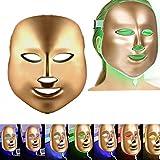 MXIN 7 Couleurs LED Photon Therapy faciales Traitement de la lumière beauté Soins beauté Anti vieillissement, Rides, collagène Anti-âge Masque de beauté supprimer la Ligne Fine et rétrécir Les Pores.
