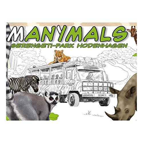 Adlung Spiele 46187 - Manimals Serengeti-Park Hodenhagen, kartenspiele