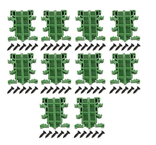 Shnuy 10 pcs 35mm PCB DIN C45 Schiene Adapter Leiterplatte Montage Halterung Halter Träger DIY,DIN-Schienenmontage-Schnittstellenmodul Anschlussklemme Breakout-Board DSUB-Anschlussblock, Anschluss.