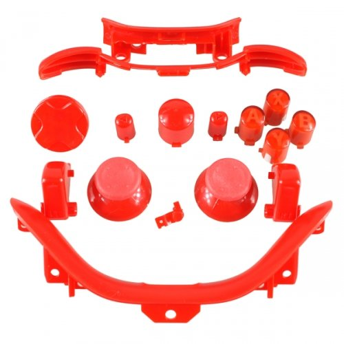 Xbox 360 Controller Mod Kit rot - ABXY Buttons, Thumbsticks, D-Pad, Guide Button, Start/Back Buttons, Bumper RB/LB, Middlebar inkl. Sync, Trigger RT/LT, Bottom Trim Mod Trim